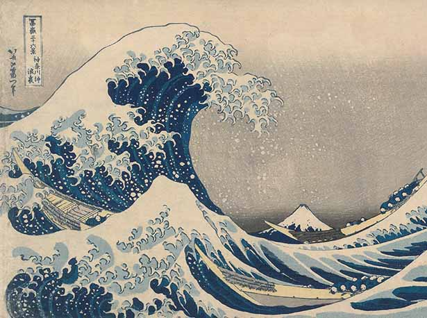 Kanagawa oki nami ura Japan